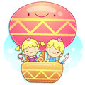 The fun a balloon Prince and Princess Mascot. A couple of Love C Royalty Free Stock Photo
