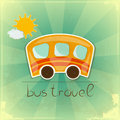 Fun bus travel card Royalty Free Stock Images