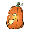 Fun cartoon jackolantern on an isolated background Royalty Free Stock Photo