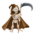 Fun cartoon vector death on a white background Royalty Free Stock Image
