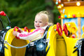Fun of the child in park attractions Royalty Free Stock Image