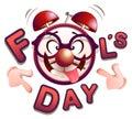 Fun clock fools day