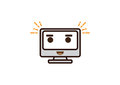 Fun computer character icon