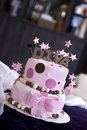 Fun Diva Cake in Bakery Stock Photography