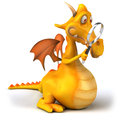 Fun dragon d generated picture Royalty Free Stock Images