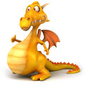 Fun dragon d generated picture Stock Photography