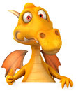 Fun dragon d generated picture Royalty Free Stock Photos
