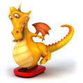 Fun dragon d generated picture Stock Photos
