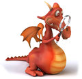 Fun dragon d generated picture Royalty Free Stock Image