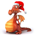 Fun dragon d generated picture Royalty Free Stock Photography