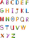 Fun font colorful and alphabet set eps Stock Image