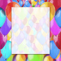 Fun frame colorful balloons Stock Photography