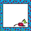 Fun Fruits : Cherries Page Layout Stock Images