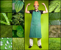 Fun gardening Royalty Free Stock Photos