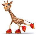 Fun giraffe d generated illustration Royalty Free Stock Images