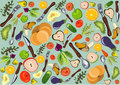 Fun healthy cuisine pattern Stock Photography