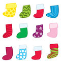 Fun Holiday Stockings Stock Image