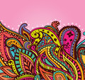 Fun paisley background pattern on a pink Stock Photography