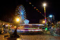 Fun park scene in night long exposure - Vietnam