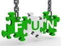 Fun Puzzle Means Enjoy Exciting Entertaining Or Joyful
