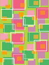 Fun retro cubes green and pink Stock Image