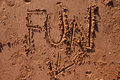 Fun in the Sand Royalty Free Stock Photo