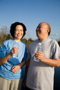 Fun senior asian couple Stock Photos