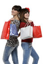 Fun at shopping Royalty Free Stock Photography