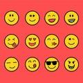 Fun and smile emoticon