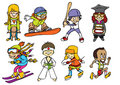 Fun sport kids Royalty Free Stock Images