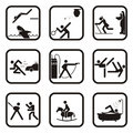 Fun sport symbols Royalty Free Stock Image