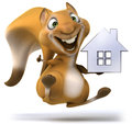 Fun squirrel d generated picture Stock Image