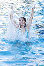 Fun at Swimming Pool Royalty Free Stock Photo