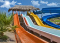Fun time in aqua park in izmir turkey Royalty Free Stock Photo