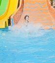 Fun time in aqua park izmir turkey Stock Images