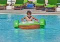Fun time in aqua park in izmir turkey Stock Image