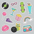 Fun trendy vintage sticker fashion badges