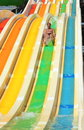 Fun on the water slides Royalty Free Stock Photo