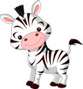 Fun zoo. Zebra Royalty Free Stock Photos