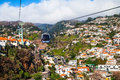 Funchal cable car madeira city island of Stock Images