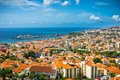 Funchal madeira island portugal beautiful view of Royalty Free Stock Images