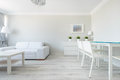 Functional interior of modern flat picture design Royalty Free Stock Photo