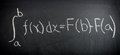 Fundamental theorem of Calculus Royalty Free Stock Photo