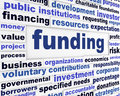Funding business words message Royalty Free Stock Photo