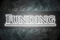 Funding concept text background Royalty Free Stock Image
