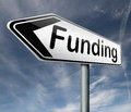 Funding fund raising road sign Royalty Free Stock Photo