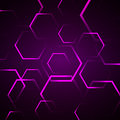 Fundo abstrato com hexágono violeta Foto de Stock