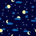 Fundo abstrato das nuvens de noite. Sem emenda. Imagem de Stock