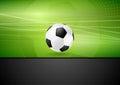 Fundo abstrato do futebol com bola de futebol Fotos de Stock Royalty Free