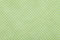 Fundo Checkered verde do tablecloth Fotografia de Stock Royalty Free